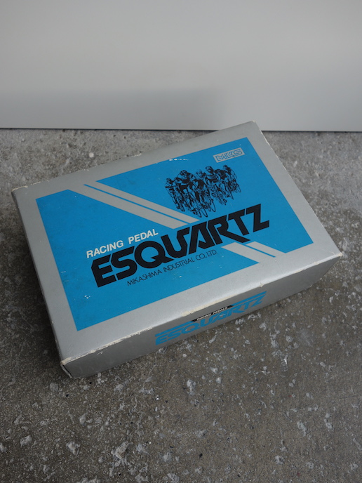 Hard to find new in the box MKS Esquartz pedals with toe clips