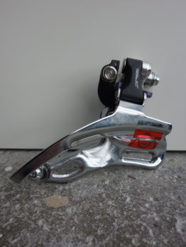 Very rare braze-on version Shimano Deore XT front mech