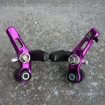 Full set of purple anodised Dia Compe 987 lightweight cantilever brakes