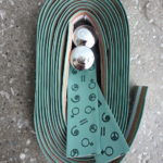 Bike Ribbon of Italy embossed Grip bar tape in matt green