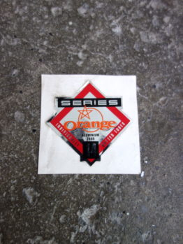 NOS Orange frame tubing decal - series 14 aluminium