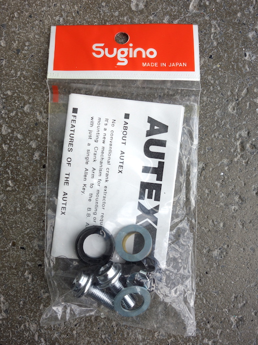 NOS Sugino Autex self-extracting crank bolts
