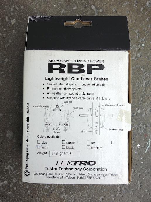 Tektro 872D cantilever brakes - NOS CNC machined cantis