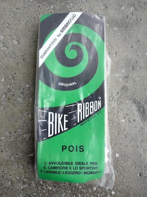Ambrosio Bike Ribbon Polka Dot bar tape in blue and white