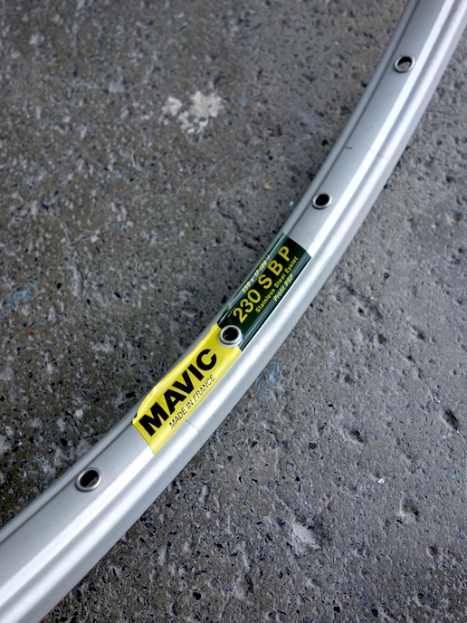"Mavic 230 SBP 26"" mountain bike rims with 28 holes"
