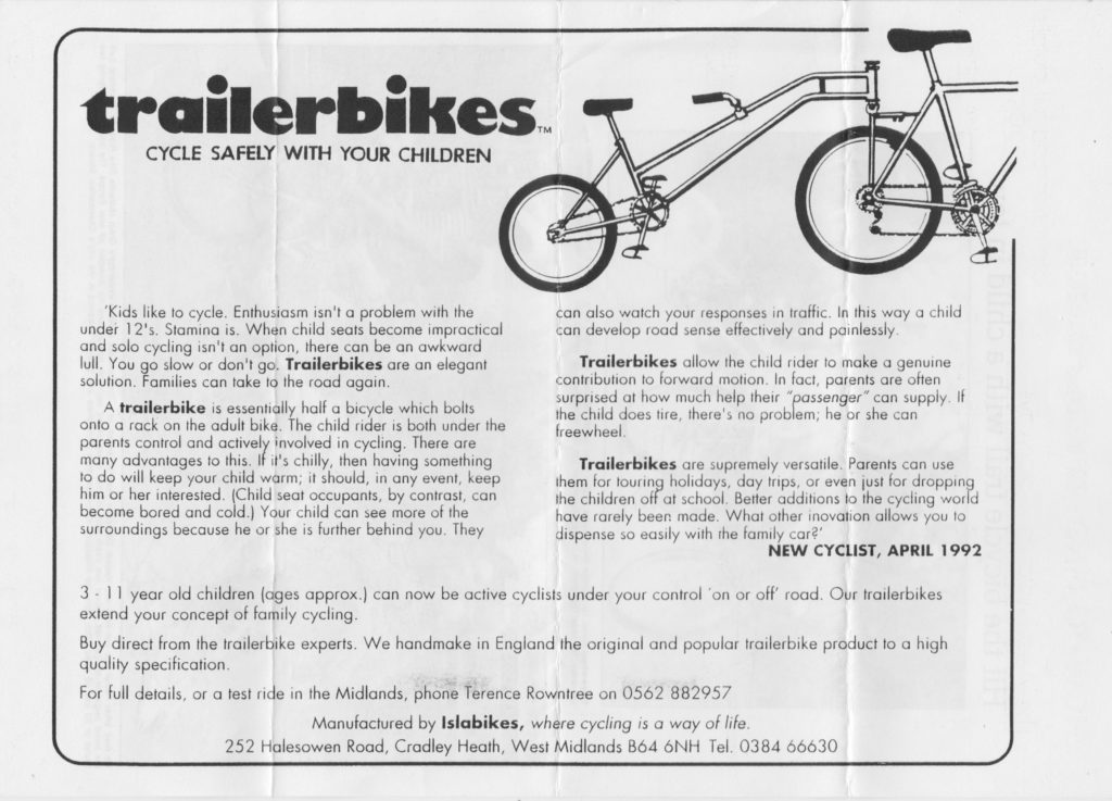 Trailerbikes advert from 1993