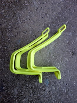 Specialized neon yellow toe clips for MTB